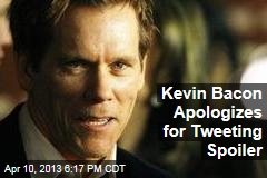 Kevin Bacon Apologizes for Tweeting Spoiler