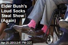 Elder Bush's Loud Socks Steal Show (Again)