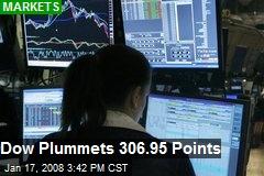 Dow Plummets 306.95 Points