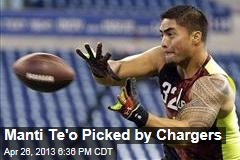 Manti Te'o Picked by Chargers