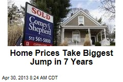 Home Prices Take Biggest Jump in 7 Years