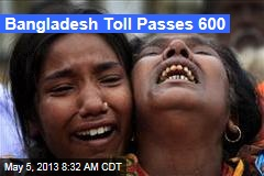 Bangladesh Toll Passes 600