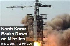 North Korea Backs Down on Missiles