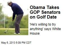 Obama Takes GOP Senators on Golf Date