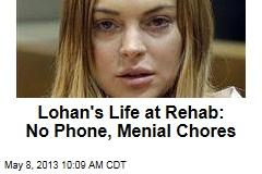 Lohan's Life at Rehab: No Phone, Menial Chores