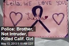 Police: Brother, Not Intruder Killed California Girl