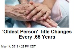 'Oldest Person' Title Changes Every .65 Years