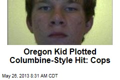 Oregon Kid Plotted Columbine-Style Hit: Cops