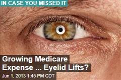Growing Medicare Expense ... Eyelid Lifts?