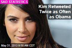Kim Retweeted Twice as Often as Obama