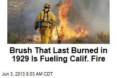 Brush That Last Burned in 1929 Is Fueling Calif. Fire