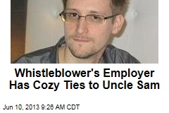 Whistleblower's Employer Has Cozy Ties to Uncle Sam