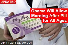 Obama Will Allow Morning-After Pill For All Ages
