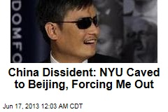 China Dissident: NYU Is Forcing Me Out