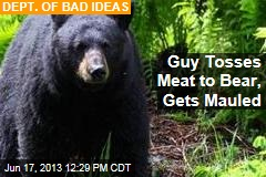 Tipsy Guy Tosses Meat to Wild Bear