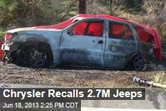 Chrysler Recalls 2.7M Jeeps