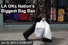 LA OKs Nation's Biggest Bag Ban