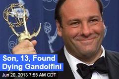 Son, 13, Found James Gandolfini