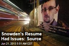 Booz Allen Spotted Issues With Snowden's Resume Claims