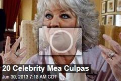 20 Celebrity Mea Culpas