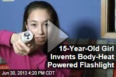 15-Year-Old Girl Invents Body-Heat Powered Flashlight