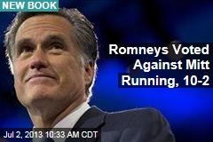 Romneys Voted Against Mitt Running, 10-2