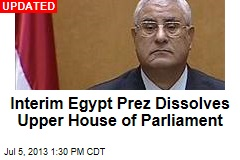 Interim Egypt Prez Dissolves Upper House of Parliament