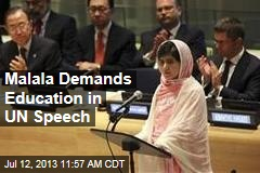 Malala Demands Education in UN Speech