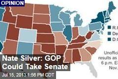 Nate Silver: GOP Could Take Senate