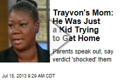 Trayvon's Mom: He Was Just a Kid Trying to Get Home