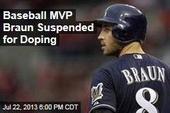 Baseball MVP Braun Suspended for Doping