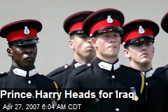 Prince Harry Heads for Iraq