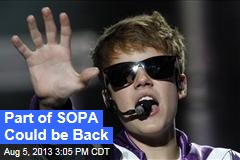 Part of SOPA Could be Back