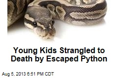 Young Kids Strangled to Death by Escaped Python