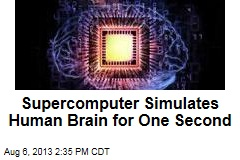 Supercomputer Simulates Human Brain for One Second