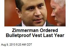Out on Bond, Zimmerman Ordered Bulletproof Vest