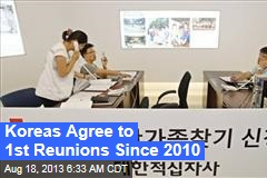 Koreas Agree to 1st Reunions Since 2010