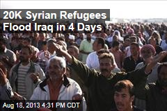 20K Syrian Refugees Flood Iraq in 3 Days