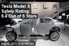 Tesla Model S' Safety Rating: 5.4 Out of 5 Stars