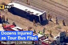 Dozens Injured as Tour Bus Flips