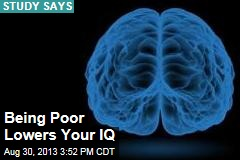 Being Poor Lowers Your IQ