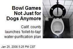 Bowl Games Not Just for Dogs Anymore