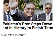 Pakistan's Prez Steps Down, 1st in History to Finish Term