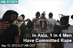 In Asia, 1 in 4 Men Have Committed Rape