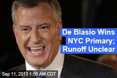 Exit Polls Give De Blasio Big Lead in NYC Primary