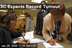 SC Expects Record Turnout
