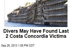 Divers May Have Found Last 2 Costa Concordia Victims