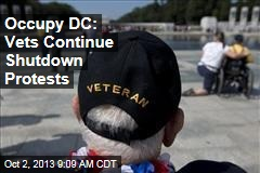 Occupy DC: Vets Continue Shutdown Protests