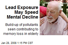 Lead Exposure May Speed Mental Decline