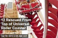 12 Rescued from Top of Universal Roller Coaster